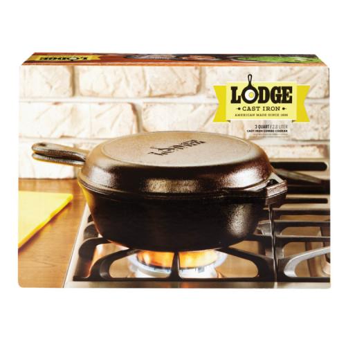 Lodge Logic 鋳鉄製コンボクッカー (LCC3) / COMBO COOKER 3 QT