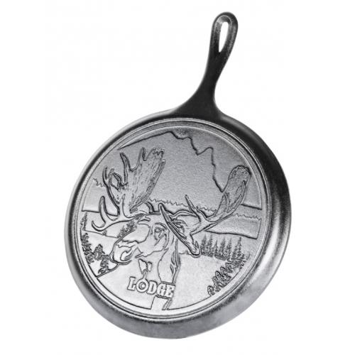 "Lodge Wildlife Series-Bull Moose 鋳鉄製グリルパン (L9OGWLMO) / GRIDDLE BULL MOOSE 10.5"""