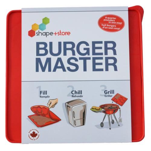Shape + Store Burger Master プラスティック製バーガープレス レッド