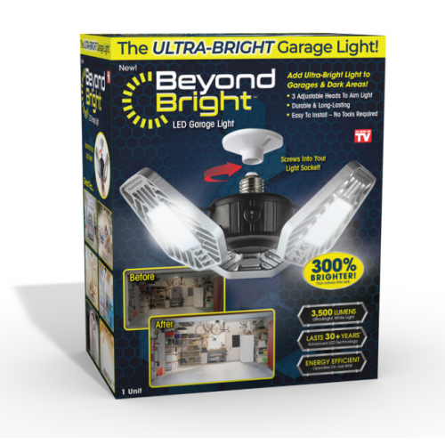 Beyond Bright LED式ガレージライト (BEBR-MC4) / GARAGE LIGHT BLK/WHT