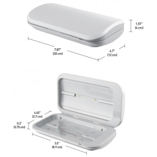 Globe Electric UV-Cライト式携帯電話消毒ボックス (60057) / UVC CELL PHN DSNFCTN BOX