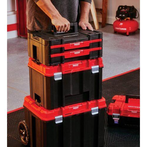 "Craftsman VERSASTACK 2段引き出し付ツールボックス (CMST17804) / VERSASTK TLBOX 2DRWR 17""Craftsman VERSASTACK 2段引き出し付ツールボックス (CMST17804) / VERSASTK TLBOX 2DRWR 17"""