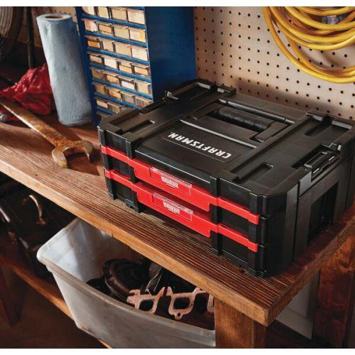 "Craftsman VERSASTACK 2段引き出し付ツールボックス (CMST17804) / VERSASTK TLBOX 2DRWR 17"""