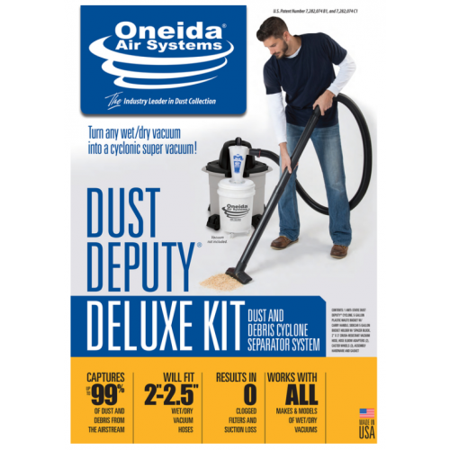 Oneida Air Systems ウェット&ドライバキューム用サイクロンセパレーターキット (AXD000004A) / DUST DEPUTY DELUXE