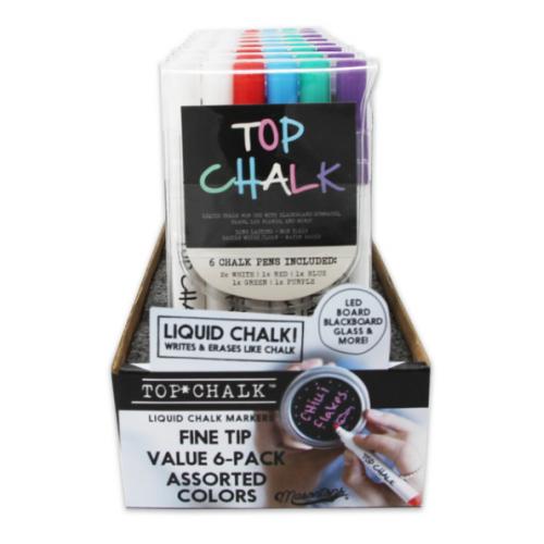 Masontops  Top Chalk イレーザブル液体チョークマーカー 6本入 (TC6) / ERASBLE LQUD CHALK MARKR