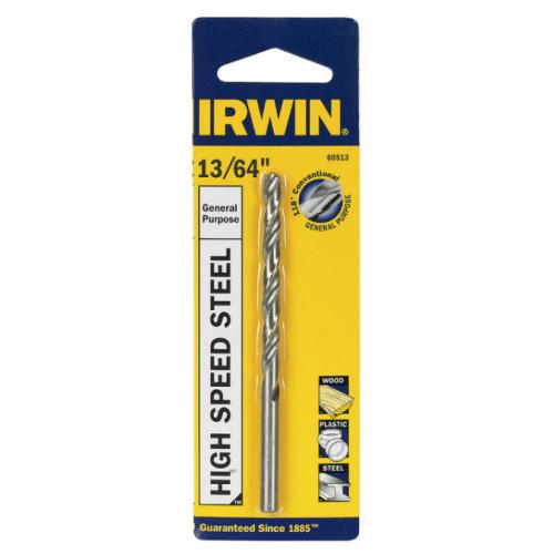 "Irwin ハイスピードスティール製ドリルビット  13/64インチ (60513) / BIT DRILL13/64""HSS"