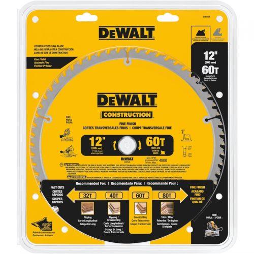"""DeWalt マイターソーブレード ( DW3126) / MITER SAW BLADE 60T 12"""""""