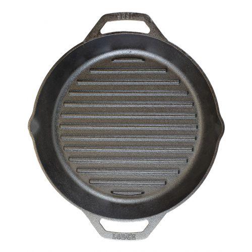 "Lodge 鋳鉄製グリルパン 12インチ 3個セット (L10GPL) / GRILL PAN BLACK 12""D"