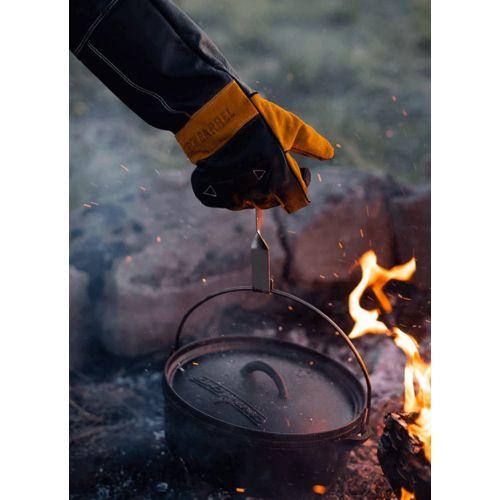 Burch Barrel Stockman グリル用グローブ (56232-3) / GRILLING GLOVE BLK/YLW