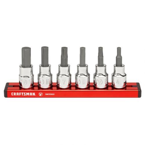 """Craftsman V-Series ヘックスビットソケット6点セット (CMMT17720V) / HEX SCKT SET MM 3/8""""6PC"""