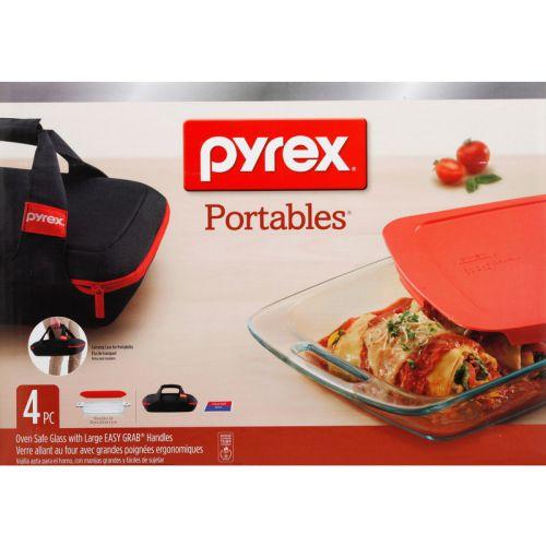 Pyrex ポータブルベークウェア4点セット (1102266) / PORTABLE BAKEWRE SET 4PC