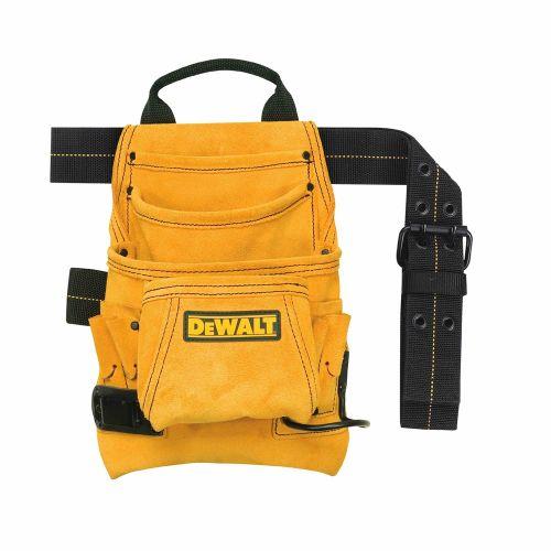 DeWalt   10ポケット大工用スエード製ネイル&ツールバッグ (DG5333) /  NAIL&TOOL BAG SUEDE10PKT