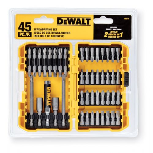 DEWALT スクリュードライビングビット45点セット (DW2166) / SCREWDRIVING SET 45 PC