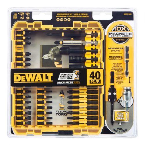 DEWALT インパクトレディ スクリュードライビング 40点セット (DWA2T40IR) / SCREWDRIVER 40PC IR