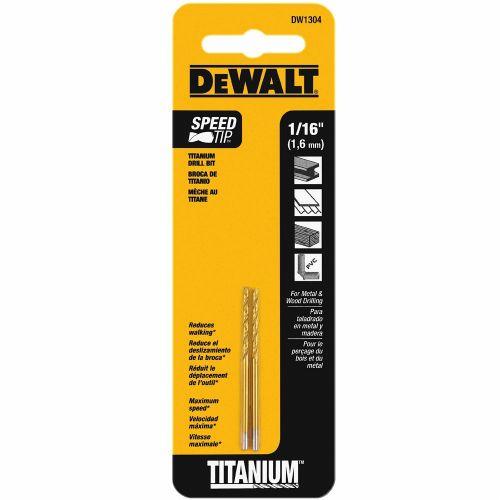 Dewalt チタニウムツイストドリルビット (DW1304) / BIT DRILL SPLITPT TI1/16