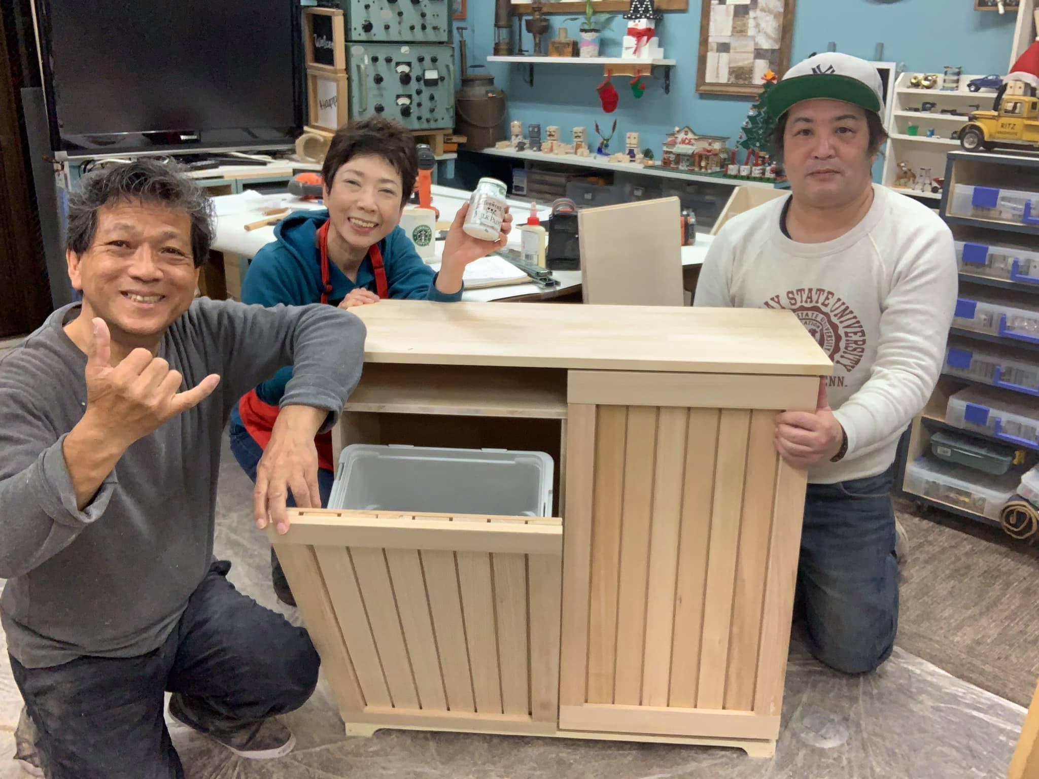 山田 芳照 DIY ゴミ箱 shigeko