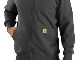Carhartt Rain Defender ルーズフィット厚地フルジップ式モックネックスエットシャツ