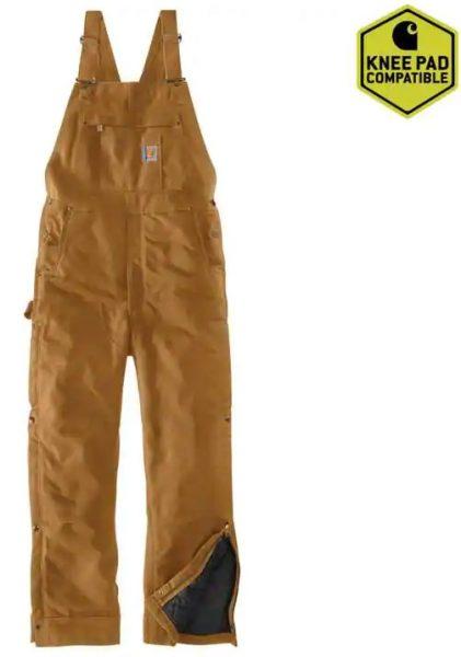 Carhartt ルーズフィットファームダック断熱性ビブオーバーオール/カーハートブラウン Style #104393