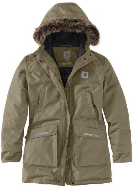 Carhartt® Yukon Extremes® 断熱性パーカ/レディース/バーントオリーブ