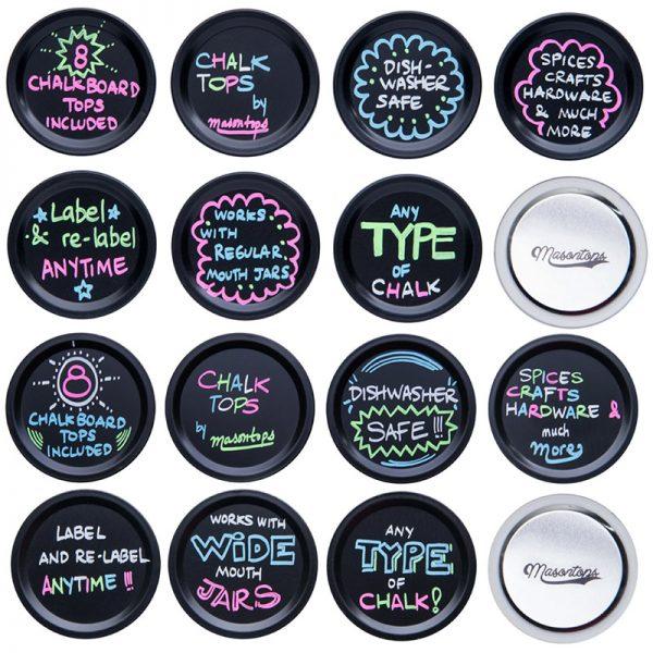 Masontops Chalk Top チョークボード付メイソンジャー用蓋 ワイドマウス