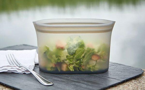 Zip Top 食品保存ディッシュ3点セット オーバル型 フロスト