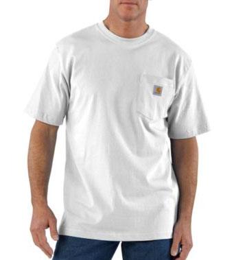Carhartt ワークウエア 半袖ポケットTシャツ/ホワイト Style #K87