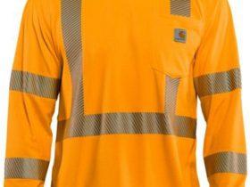 Carhartt Force 鮮明色クラス3長袖Tシャツ/ブライトオレンジ Style # 100496