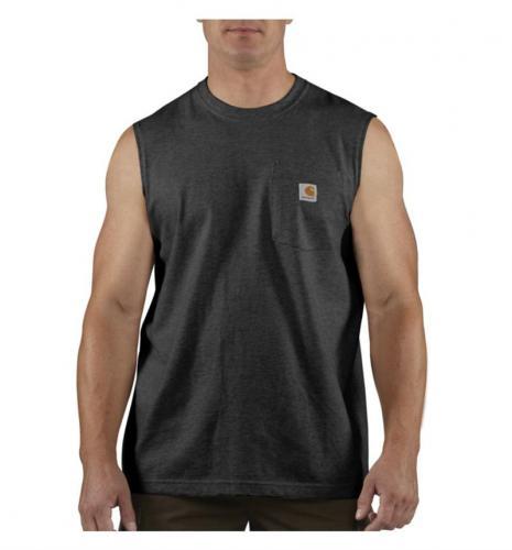 Carhartt ワークウェアポケット付ノースリーブTシャツ/ブラック Style #100374