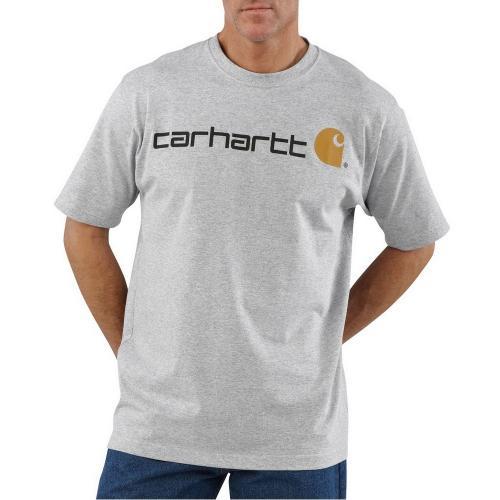 Carhartt 半袖ロゴTシャツ/ヘザーグレー Style # K195