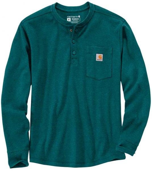 Carhartt リラックスフィット厚地ロングスリーブヘンリーポケットサーマルTシャツ Style #104429
