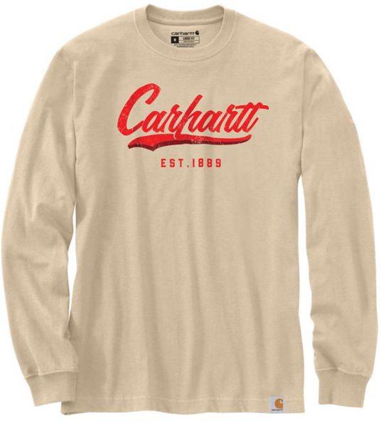 Carhartt ルーズフィットハンドペイントグラフィック付厚地長袖Tシャツ/ Style # 104890