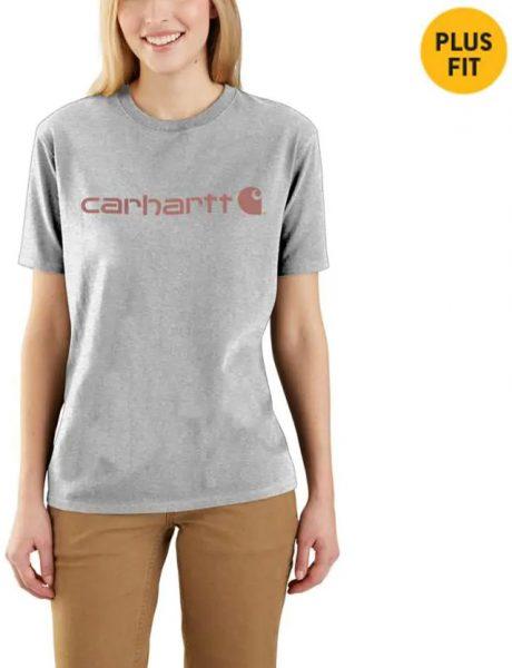 Carhartt WK195ワークウエア ロゴ付き半袖Tシャツ/レディース