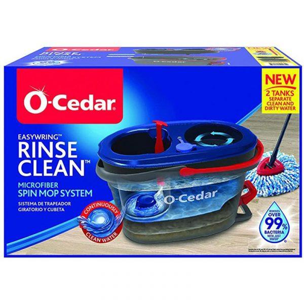 O-Cedar Rinse N Clean バケツ付スピンモップ (168534)