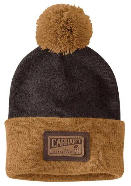 Carhartt ニット製ポンポン付カフドクラフツマンシップビーニー/ダークブラウン/フリーサイズ Style # 104876